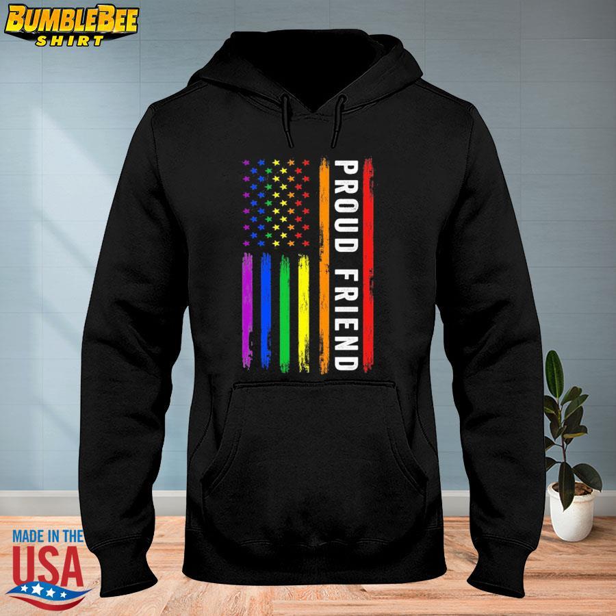 Official Lgbt proud friend rainbow American flag s hoodie