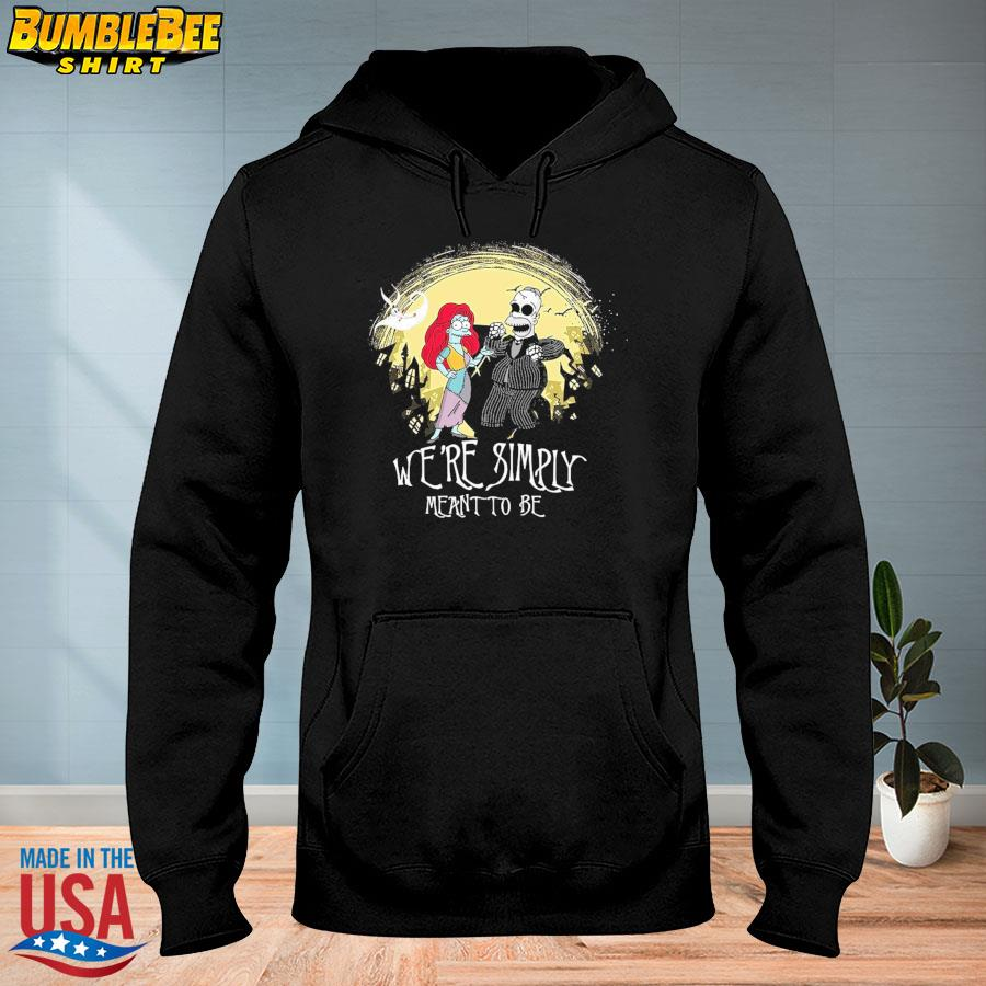 Jack and Sally we are simply meant to be Halloween s hoodie