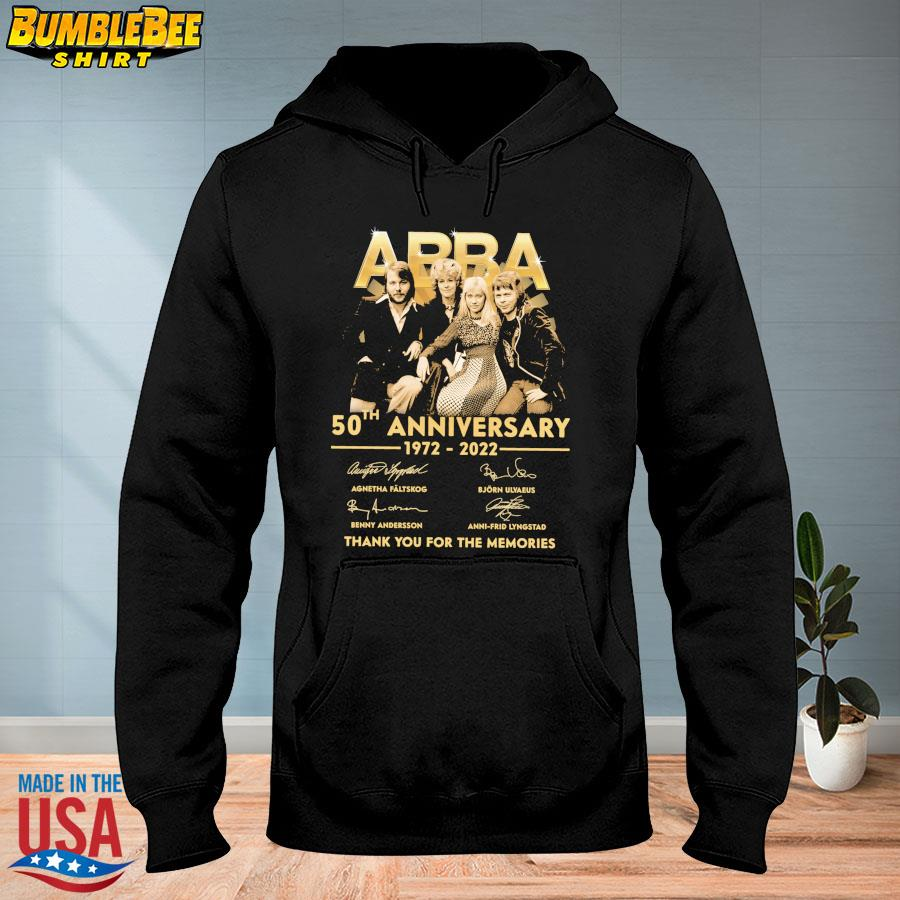 Official Abba 50th anniversary 1972 2022 thank you for the memories signatures s hoodie