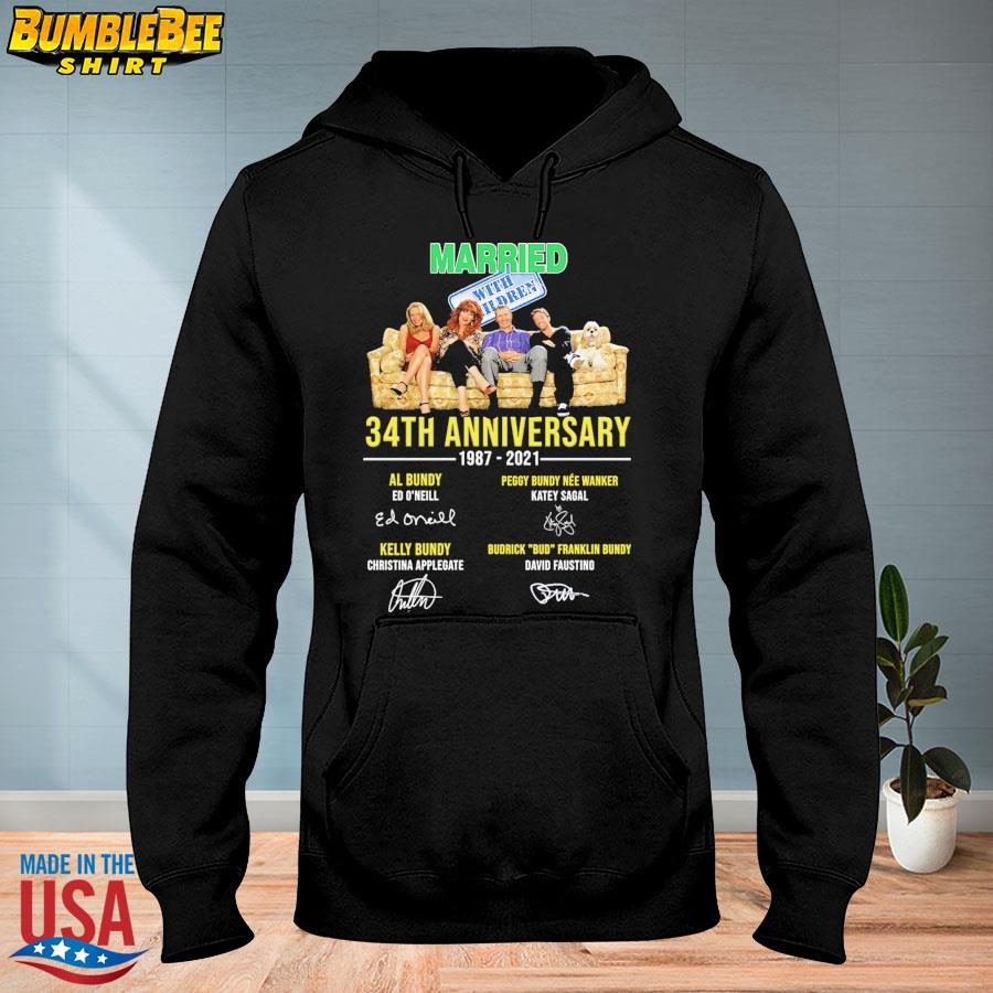 Official Married With Children 34th anniversary 1987 2021 signatures s hoodie