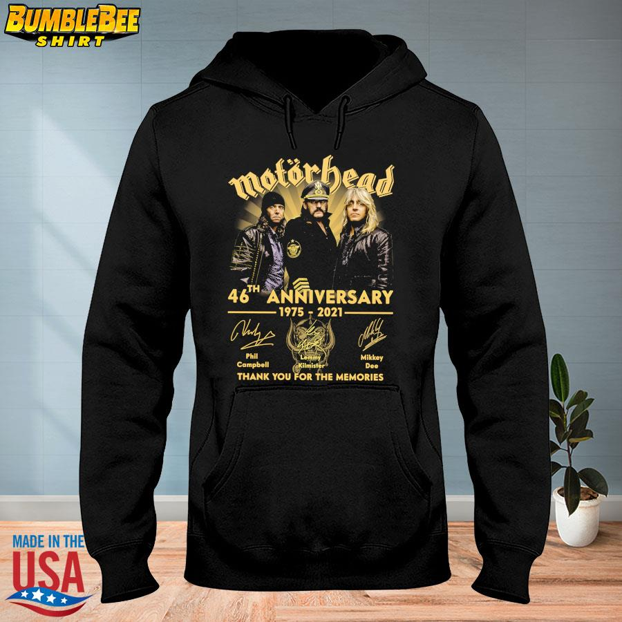 Official Motor Bead 46th anniversary 1975 2021 thank you for the memories signatures s hoodie