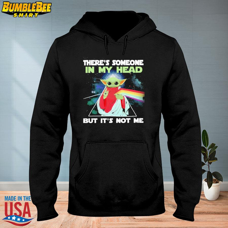 Official There's Someone In My Head But It's Not Me Baby Yoda Pink Floyd s hoodie