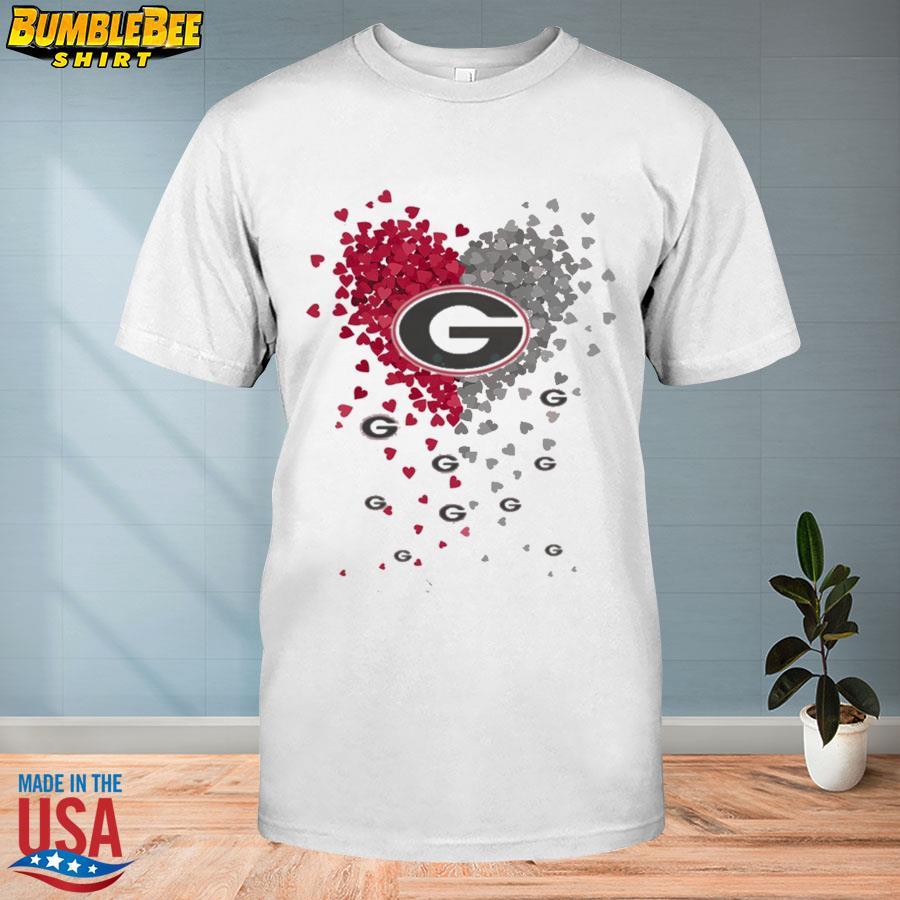 Hearts Georgia Bulldogs logo shirt