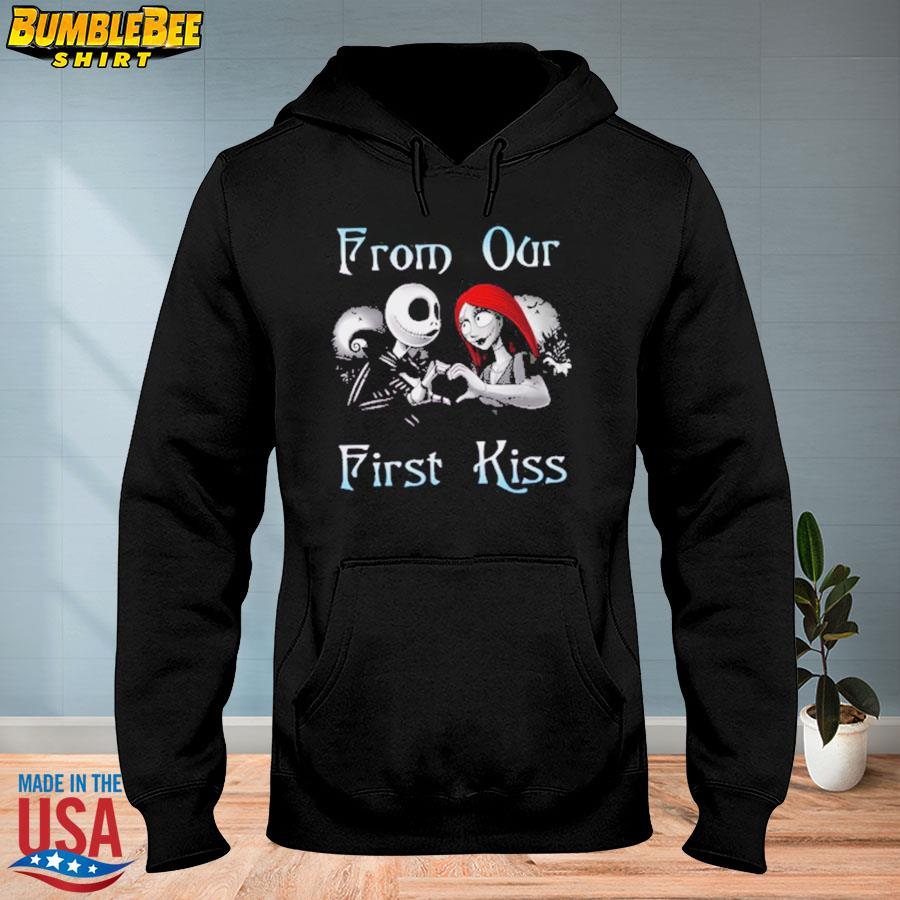 Jack Skellington and Sally from our first kiss s hoodie