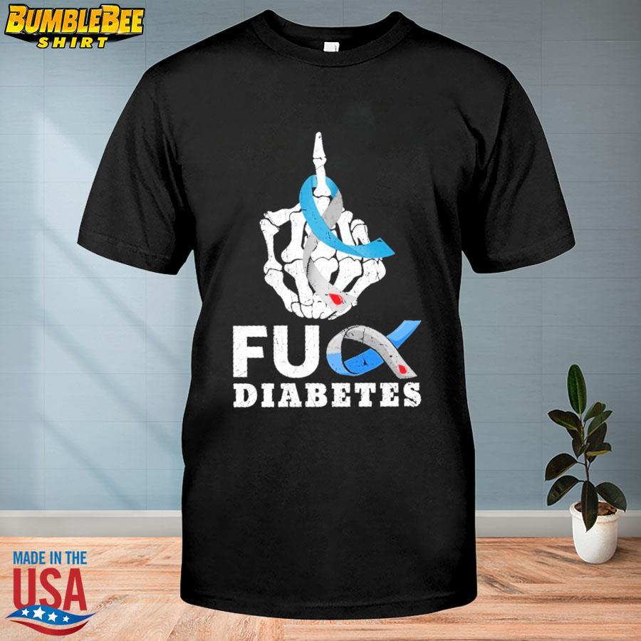 Skeleton Hand Fuck Diabetes shirt