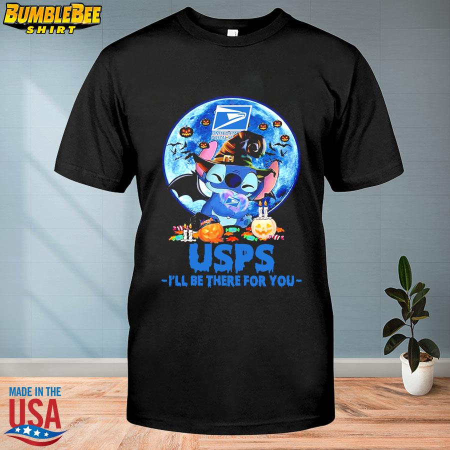 Stitch Witch USPS I'll be there for you Halloween Moon shirt