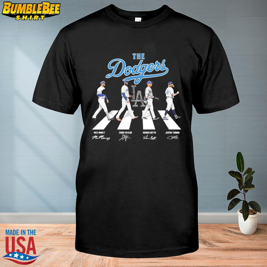 The Los Angeles Dodgers Abbey Road signatures shirt