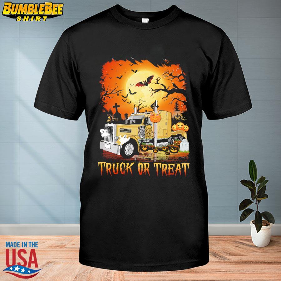 Truck or Treat Pumpkin Halloween shirt